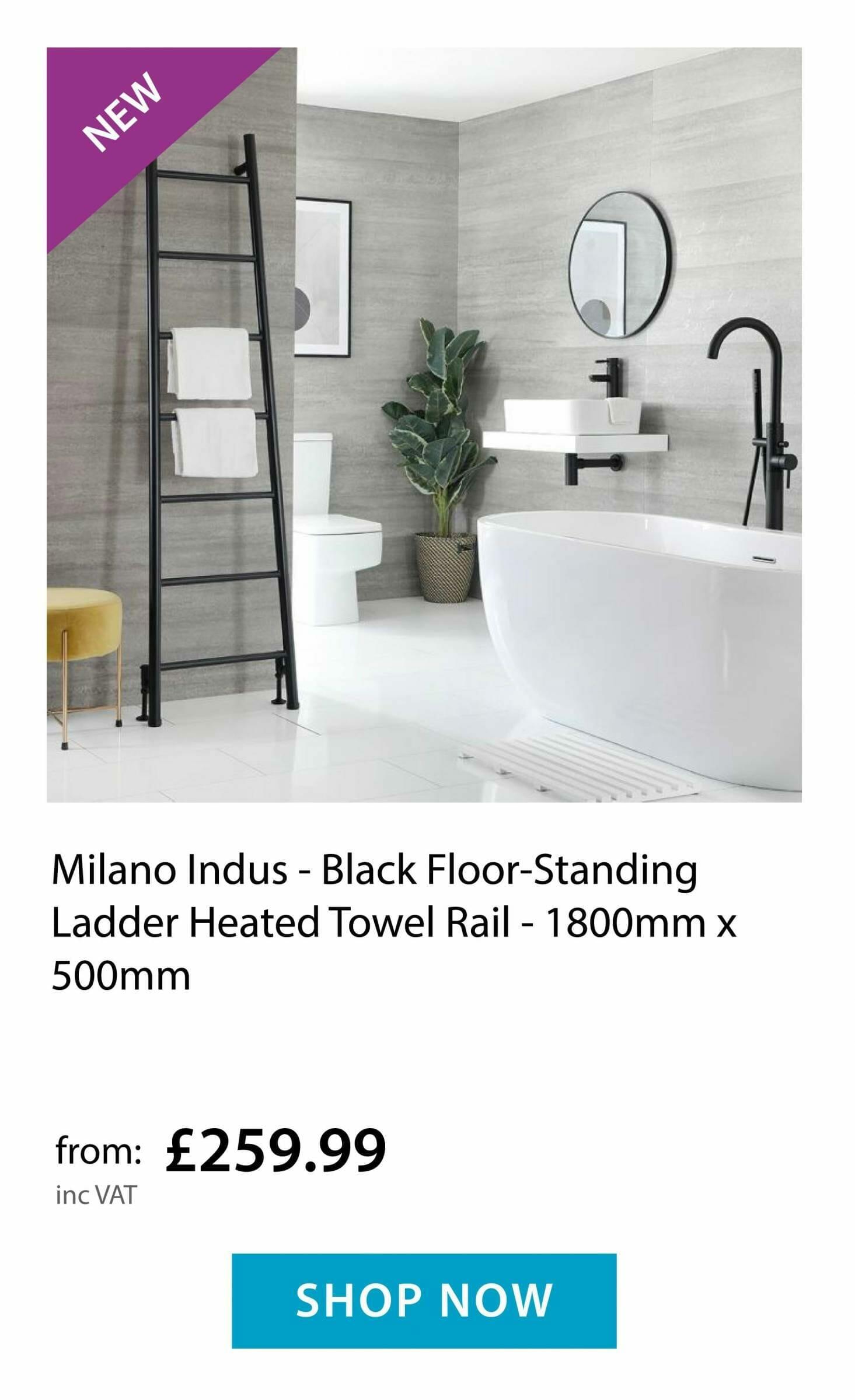 Milano Indus - Heated Towel Ladder Rail
